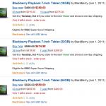Blackberry Playbook Tablet on Sale