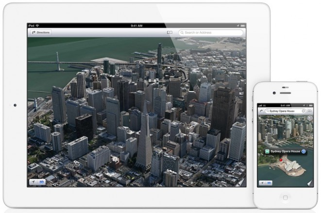 Apple Maps Flyover on The New iPad