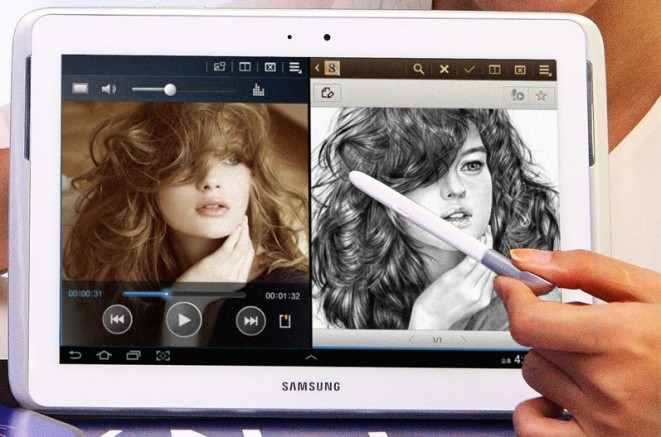 Samsung Galaxy Note 10.1 Multiscreen Multitasking