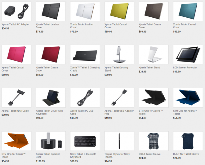 Official Sony Xperia Tablet S Accessories