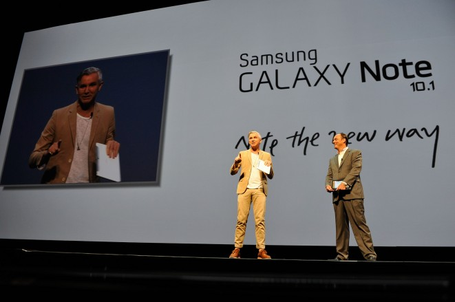 Tim Baxter of Samsung with Movie Director Baz Luhrmann
