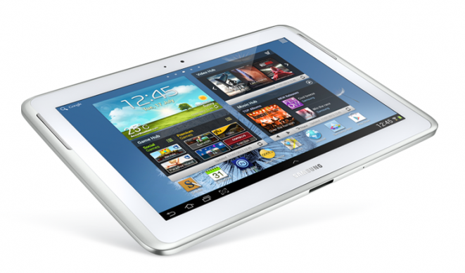 White Samsung Galaxy Note 10.1