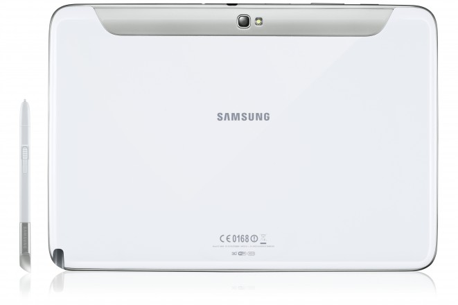 White Samsung Galaxy Note 10.1 Back