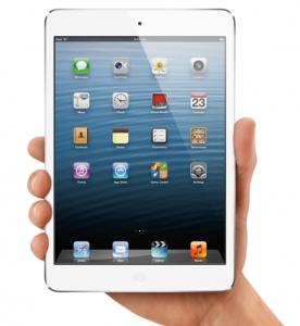 iPad mini in hand