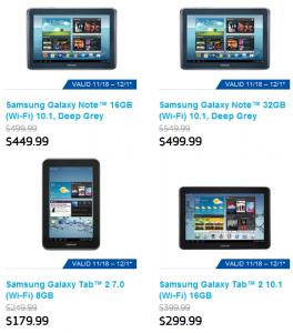 Samsung Galaxy Tablet Deals