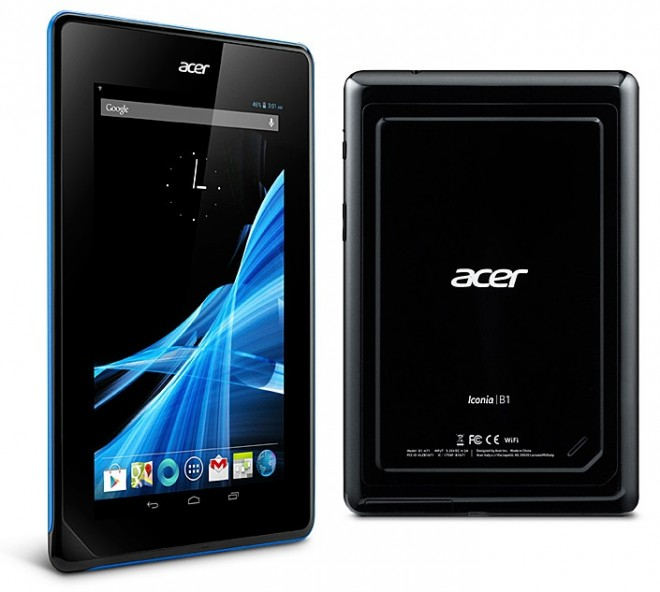 Acer Iconia B1 front and back