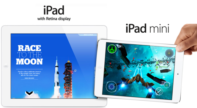 iPad 4 and iPad mini bezel comparison