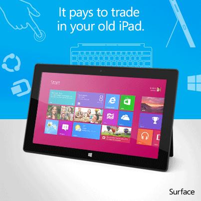 Ipad Surface trade in