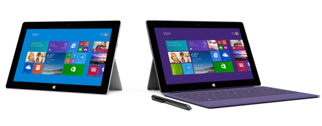Microsoft Surface 2 RT and Pro with stylus