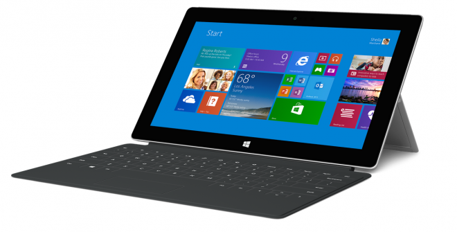 Surface 2 with keyboard cover