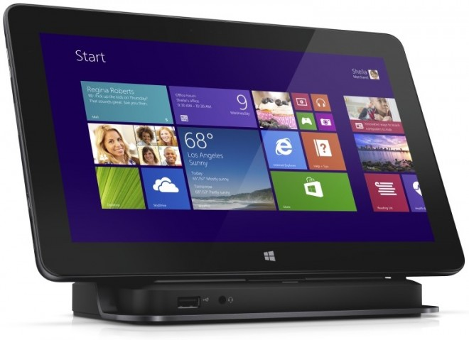 Dell Pro 11 Windows 8.1 11-inch tablet computer with dock.