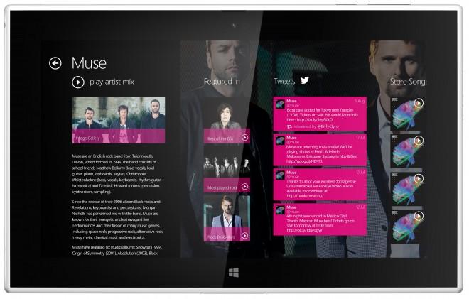 Nokia Lumia 2520 - radio and music features