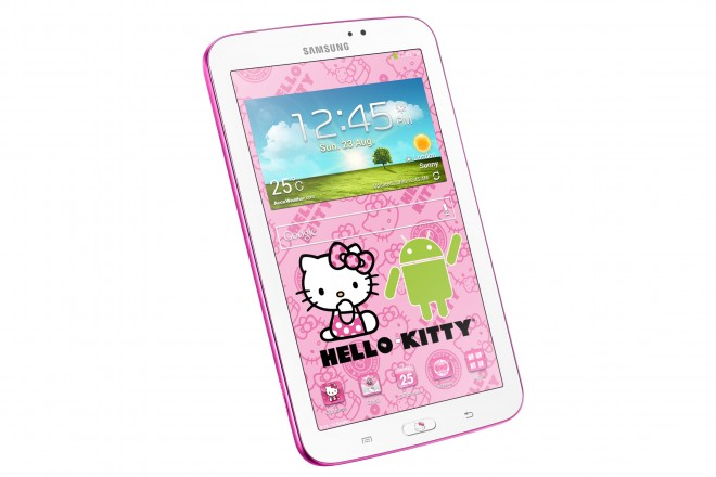 Samsung GALAXY Tab 3 7.0 WiFi Hello Kitty Edition - left angle