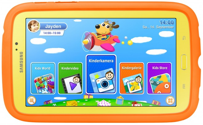 Samsung Galaxy Tab 3 Kids Edition interface