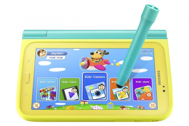 Samsung Galaxy Tab 3 Kids Edition with Blue Case and C Pen