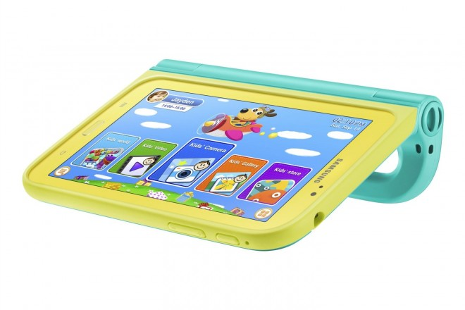 Samsung Galaxy Tab 3 Kids Edition with Blue Case stand