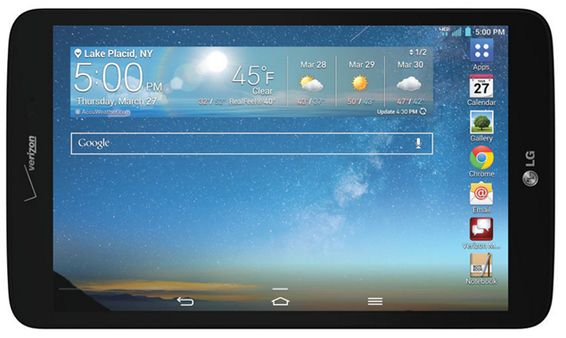 LG G Pad 8.3 4G LTE tablet