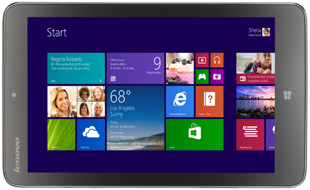 Lenovo's current 8-inch Windows 8.1 tablet