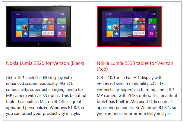 Nokia Lumia 2520 Pre-Order Release
