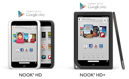 Current NOOK tablets