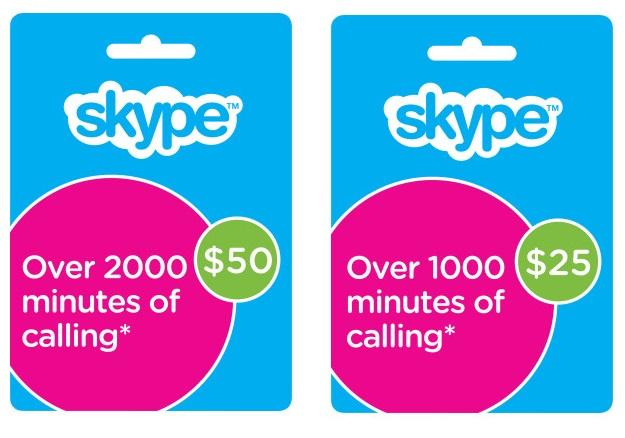 $50 - $25 Skype Credit