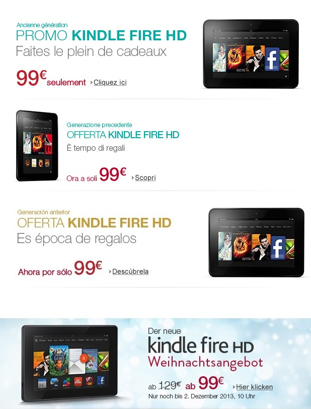 Kindle Fire HD 7 Cyber Monday Sale