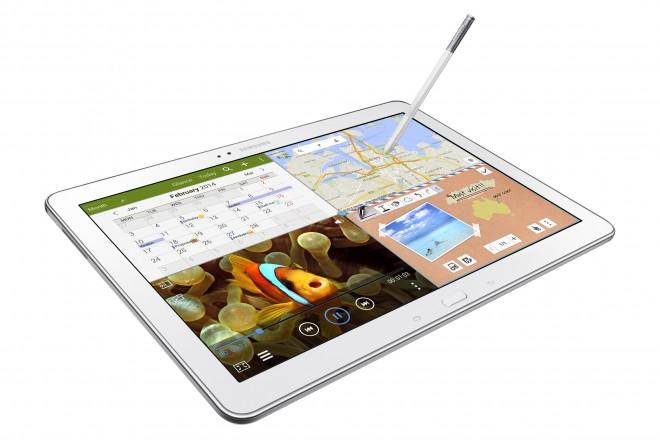 Samsung Galaxy NotePRO in white