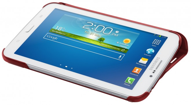 What the present Samsung Galaxy Tab 7.0 looks like. Design expected to reamin similar on Galaxy Tab 4.