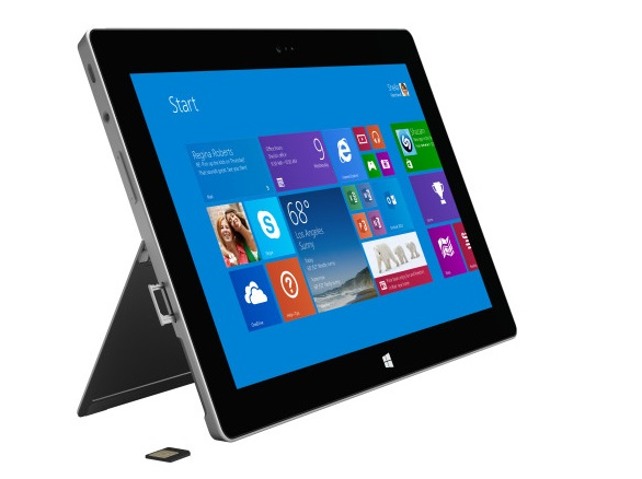 Microsoft Surface 2 4G LTE with SIM card tray open