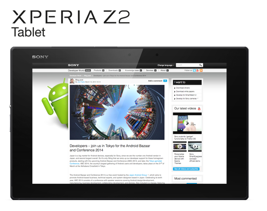 Sony Xperia Z2 Tablet release  begins
