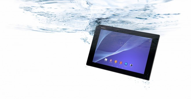 The waterproof Sony Xperia Z2 Tablet