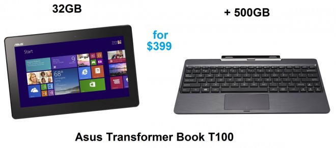 Asus Transformer Book T100 500GB