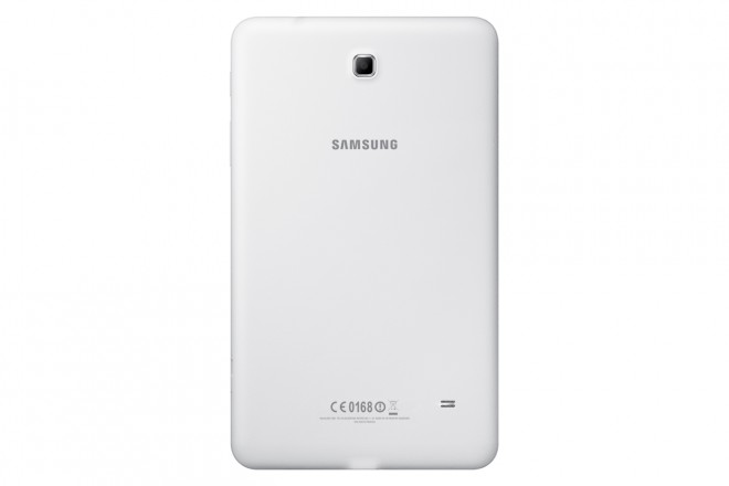 Samsung Galaxy Tab 4 8.0 rear in white