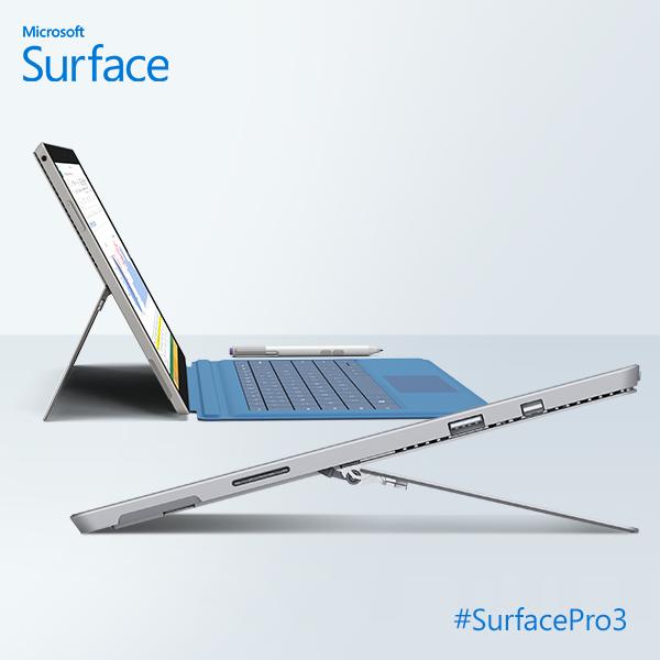Microsoft Surface Pro 3 modes