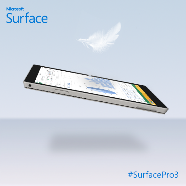 Microsoft Surface Pro 3 weight