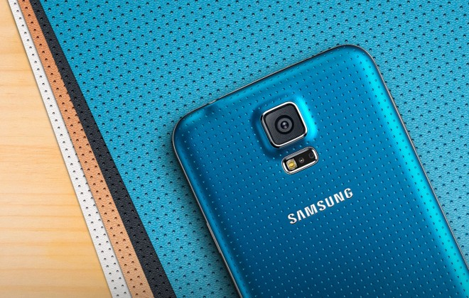 Perforated leather and design of the Samsung Galaxy S line