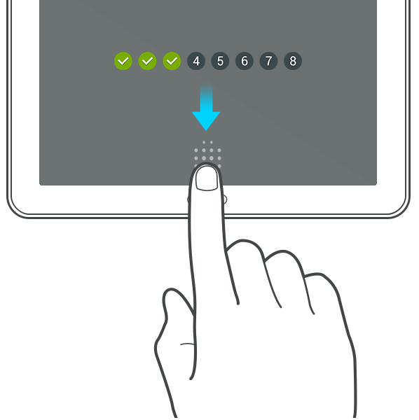 Samsung Galaxy Tab S fingerprint scanner