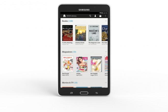 Samsung Galaxy Tab 4 NOOK library