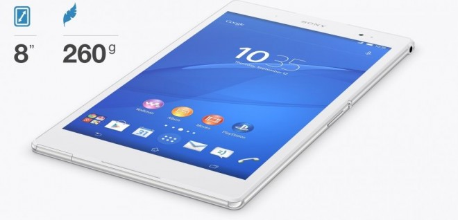 Sony Xperia Z3 Tablet Compact info