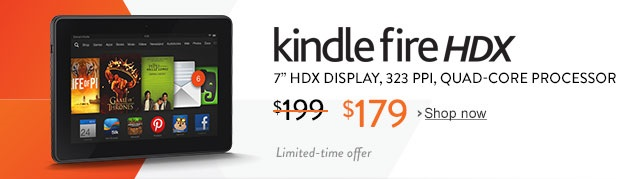 Amazon Kindle Fire HDX 7 Sale Price Today $179