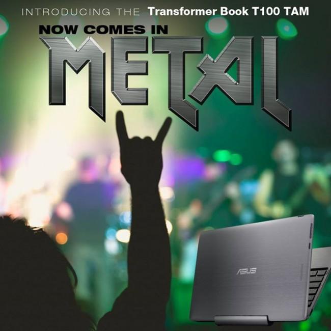Asus Transformer Book T100 TAM in metal