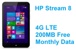 HP Stream 8 LTE With 200MB Monthly Free Data Taking Orders For $179