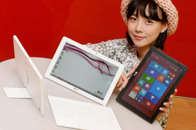LG Tab Book Duo with kickstand