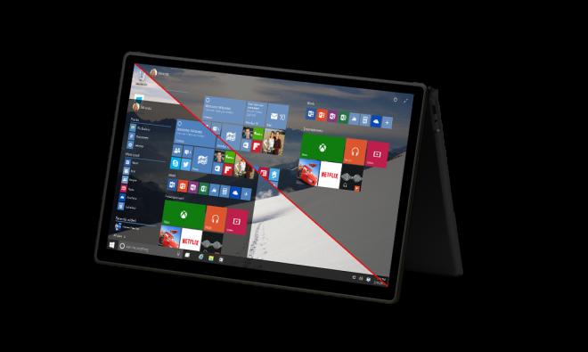 Windows 10 on tablet