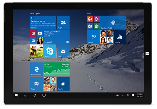 Microsoft Surface 3 Windows 10