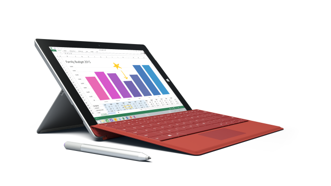 Surface 3 with keyboard and digitizer pen
