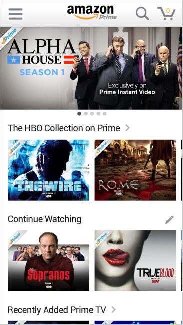 Amazon Prime Instant Video Android Tablets