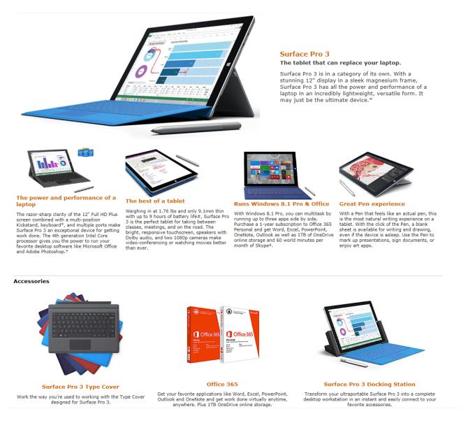 Microsoft Surface Pro 3 i7 Sale 256GB - 512GB