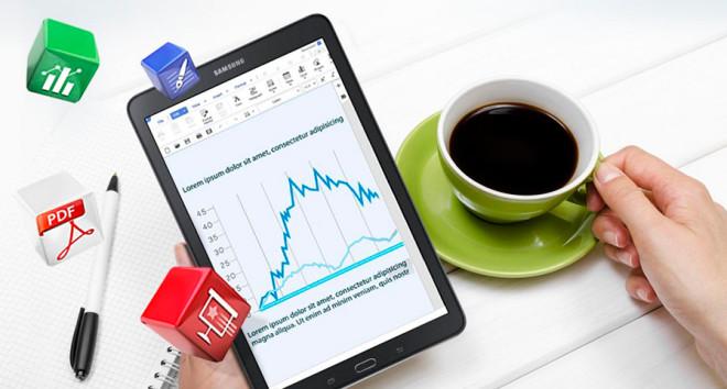 Samsung Galaxy Tab E 9.6 Hancom Office suite