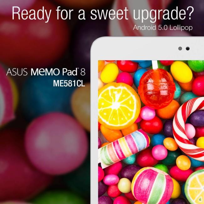 Android 5.0 Asus MeMO Pad 8 ME581CL